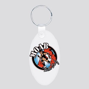 Moab Roller Derby Aluminum Oval Keychain