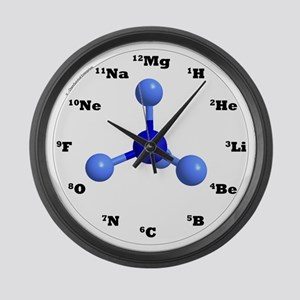Elements Large Wall Clock - Blue