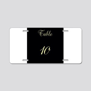Table Number Aluminum License Plate
