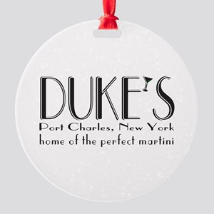Black DUKE Martini Ornament