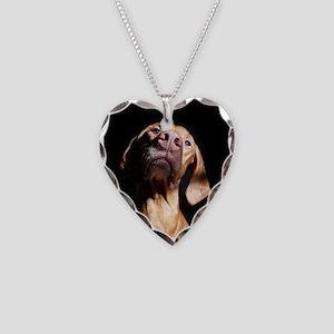 Sweet Vizsla Necklace Heart Charm