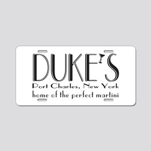 Black DUKE Martini Aluminum License Plate