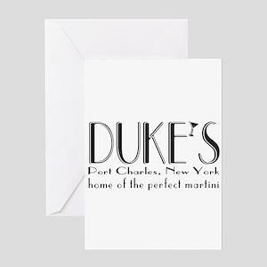Black DUKE Martini Greeting Cards