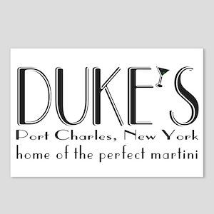 Black DUKE Martini Postcards (Package of 8)