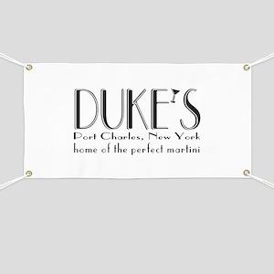 Black DUKE Martini Banner