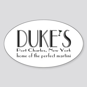 Black DUKE Martini Sticker