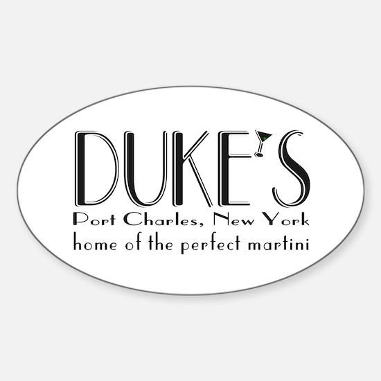 Black DUKE Martini Decal