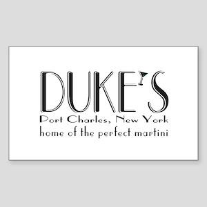 Black DUKE Martini Sticker