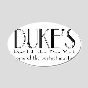 Black DUKE Martini Wall Decal