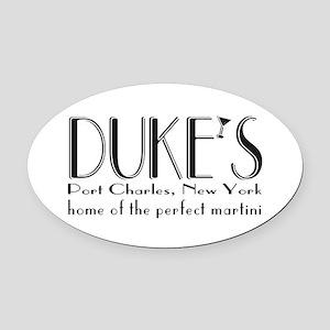 Black DUKE Martini Oval Car Magnet