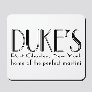 Black DUKE Martini Mousepad