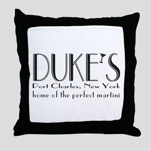 Black DUKE Martini Throw Pillow
