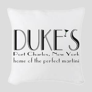 Black DUKE Martini Woven Throw Pillow