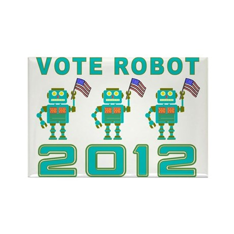 Vote Robot Rectangle Magnet