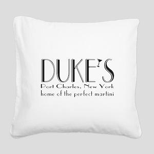 Black DUKE Martini Square Canvas Pillow
