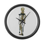 Skeleton on Crutches Large Wall Clock