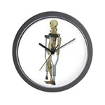 Skeleton on Crutches Wall Clock