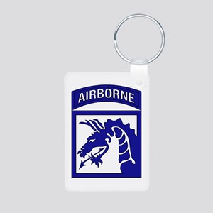 XVIII Airborne Corps Aluminum Photo Keychain