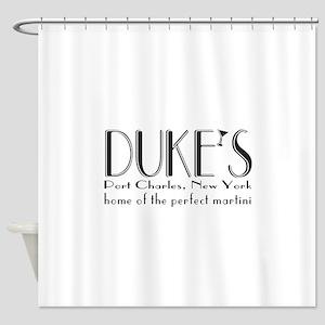 Black DUKE Martini Shower Curtain
