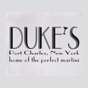 Black DUKE Martini Throw Blanket