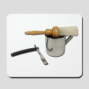 Straight Razor Mug Brush Mousepad