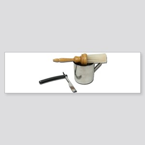 Straight Razor Mug Brush Sticker (Bumper)
