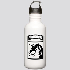 XVIII Airborne Corps B-W Stainless Water Bottle 1.