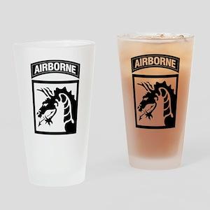 XVIII Airborne Corps B-W Drinking Glass