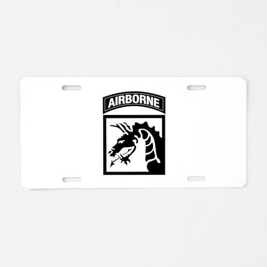 XVIII Airborne Corps B-W Aluminum License Plate