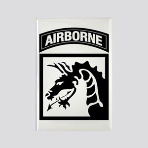 XVIII Airborne Corps B-W Rectangle Magnet