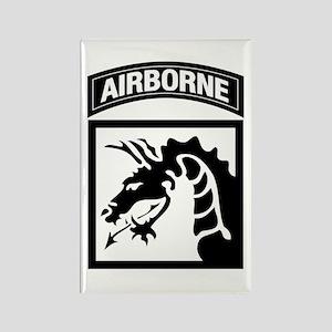 XVIII Airborne Corps B-W Rectangle Magnet