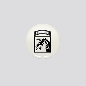 XVIII Airborne Corps B-W Mini Button