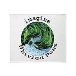Imagine Whirled Peas Throw Blanket