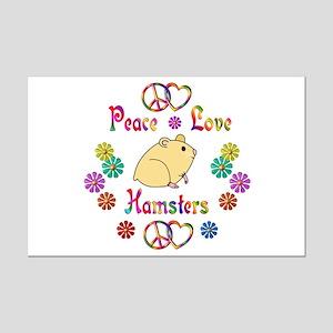 Peace Love Hamsters Mini Poster Print