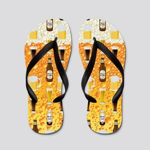 Cold Tasty Beer Flip Flops