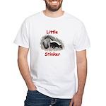 Little Stinker (Baby Skunk) White T-Shirt