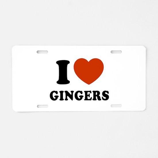 Ginger Aluminum License Plate
