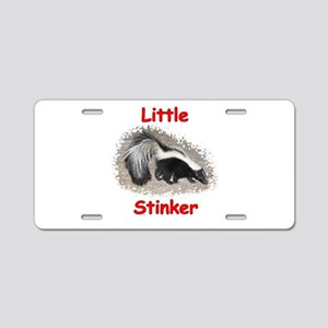 Little Stinker (Baby Skunk) Aluminum License Plate