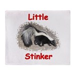 Little Stinker (Baby Skunk) Throw Blanket