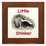 Little Stinker (Baby Skunk) Framed Tile