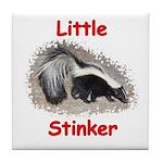 Little Stinker (Baby Skunk) Tile Coaster