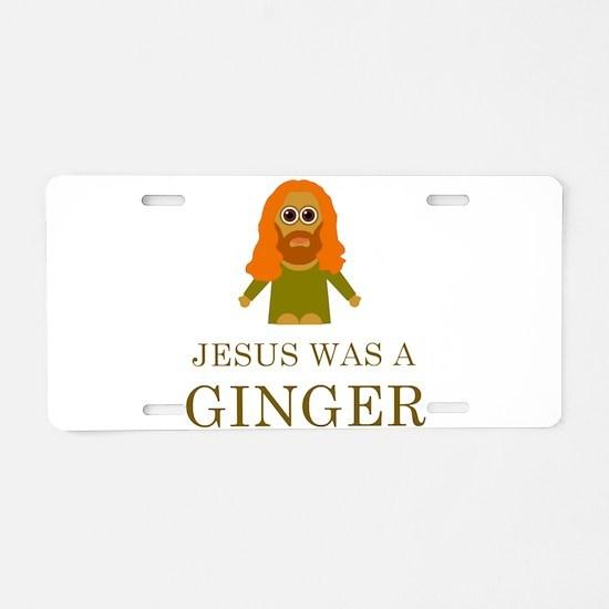 Unique Ginger Aluminum License Plate