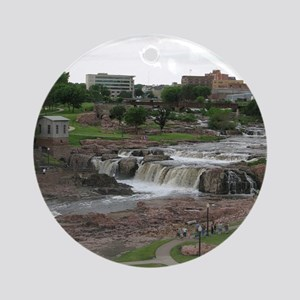 Sioux Falls Skyline Ornament (Round)