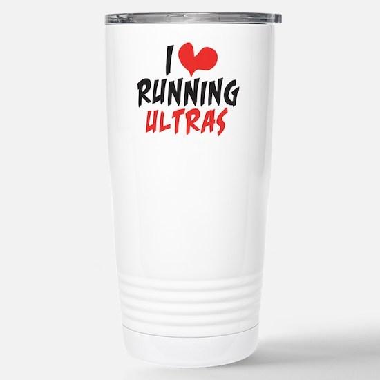 I Heart Running Ultras Stainless Steel Travel Mug