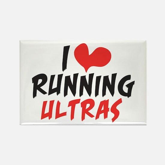 I heart Running Ultras Rectangle Magnet