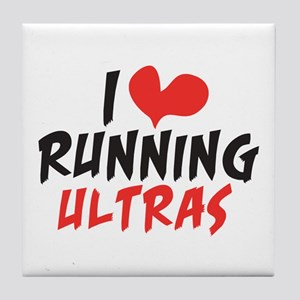 I heart Running Ultras Tile Coaster