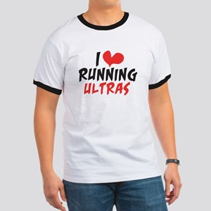 I heart Running Ultras Ringer T