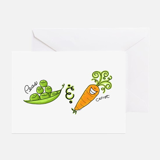 Peas and Carrot Greeting Cards (Pk of 10)