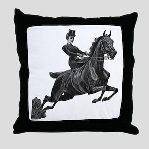 Lady Jumper Throw Pillow