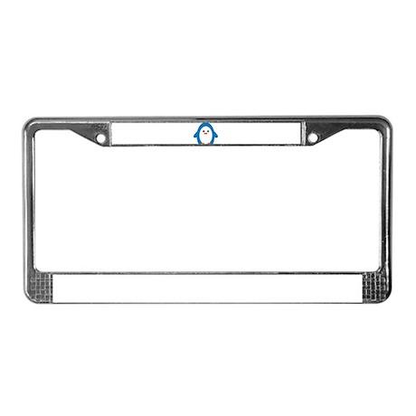 Peddler Penguin License Plate Frame